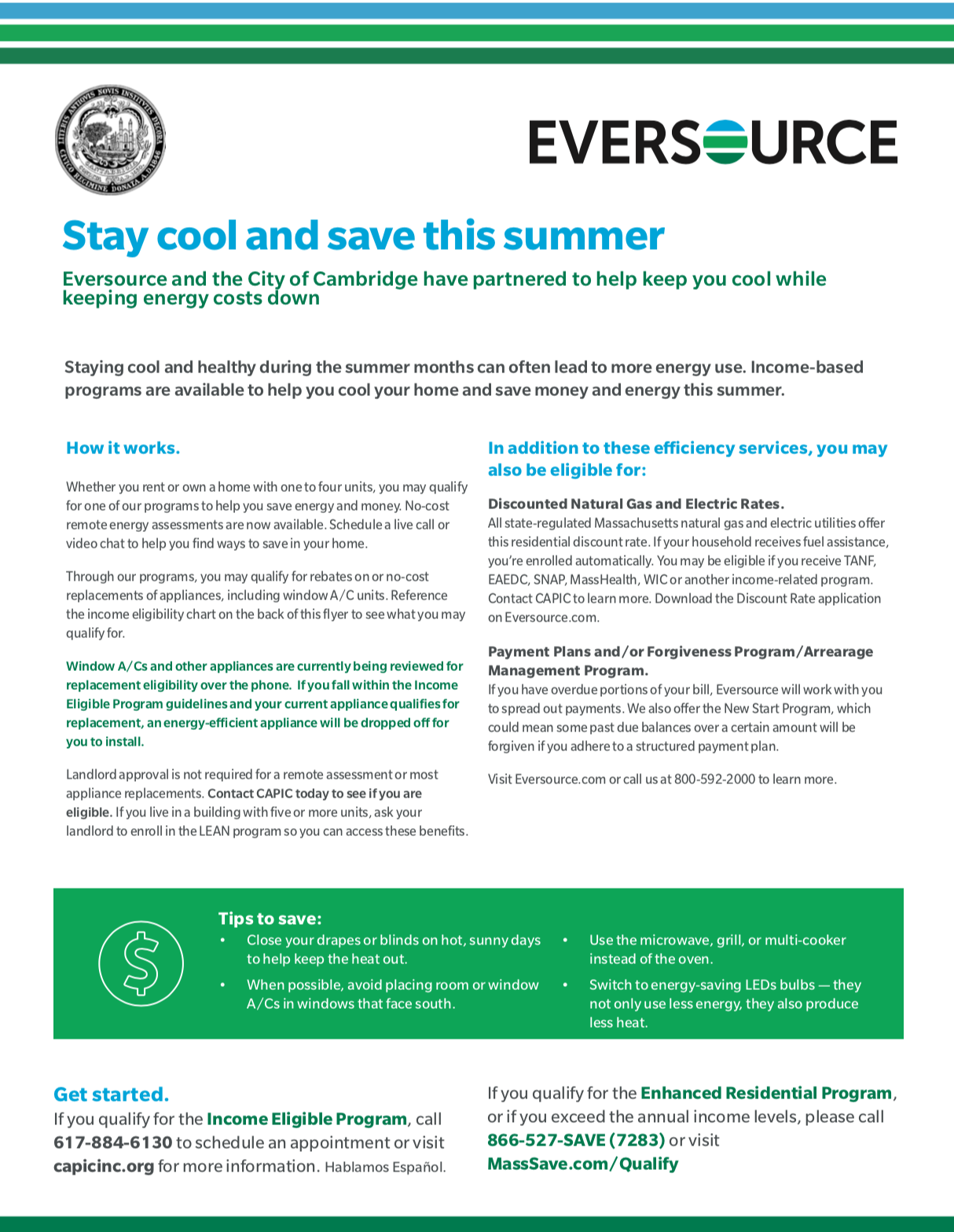 Keeping Cool in Hot Weather – Cambridge Energy Alliance